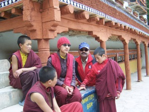 With Monastery students