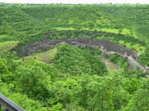 Ajanta Caves from View Point
