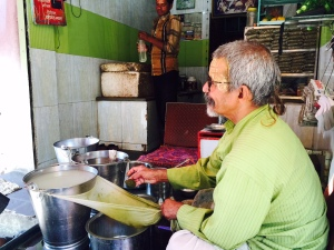 Preparing Thandai
