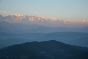 Views of Himalaya from Anasakti Ashram, Kausani